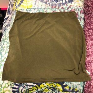 Army green pencil skirt. Never been worn!